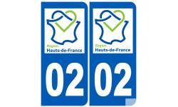 Logo autocollant 02 Aisne région Haut-de-France