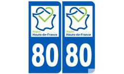 Logo autocollant autocollant 80 immatriculation de la somme région Hauts-de-France