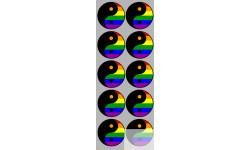 Stickers  / Autocollants  YIN YANG classic 5