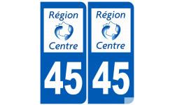 numero immatriculation 45 (region)