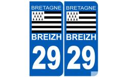 numero immatriculation 29 drapeau Breton