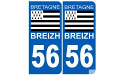 numero immatriculation 56 drapeau Breton