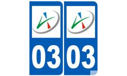 numero immatriculation 03 (l'Allier)