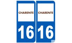 numero immatriculation 16 (Charente)