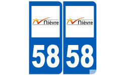 numero immatriculation 58 (Nièvre)
