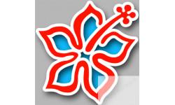 Stickers / autocollant Repère valise aéroport fleurs 11