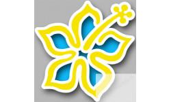 Stickers / autocollant Repère valise aéroport fleurs 12