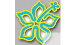 Stickers / autocollant Repère valise aéroport fleurs 13