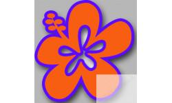 Stickers / autocollant Repère valise aéroport fleurs 19