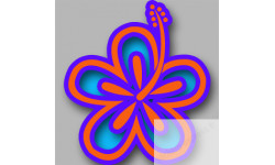 Stickers / autocollant Repère valise aéroport fleurs 24