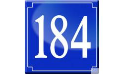 numéro de rue 184