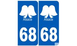 numero immatriculation 68 (Haut-Rhin)  coiffe Alsacienne