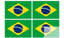 Stickers / autocollants drapeau Brésilien