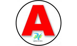 stickers / autocollant A de la Saône et Loire