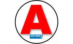 stickers / autocollant A de la Seine et Marne