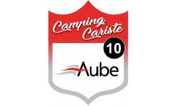 Sticker / autocollant : Camping car Aube 10 - 10x7.5cm