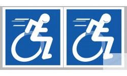Stickers / autocollants handicape 3