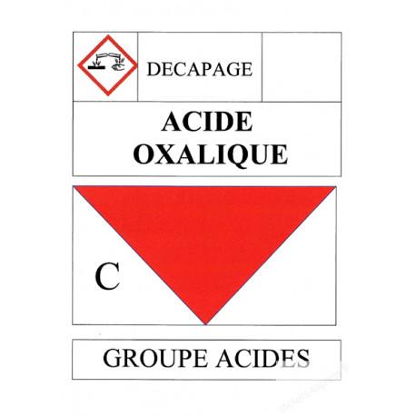 Stickers / autocollant Acide oxalique