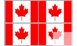 Stickers / autocollants drapeau Canadien 2