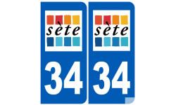 Sticker / autocollant : ville de Sète immatriculation 34