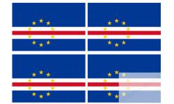 Stickers / autocollants drapeau Cap-Vert 2