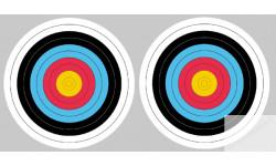 Stickers / autocollants Cible colorée 3