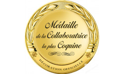 Stickers / autocollant Médaille collaboratrice coquine