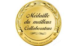 Stickers / autocollant Médaille du meilleur collaborateur