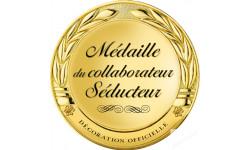 Stickers / autocollant Médaille de la meilleure collaboratrice