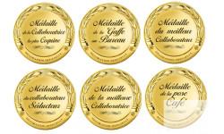 Stickers / autocollants Kit  Médaille au bureau 1