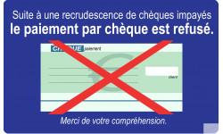 Paiement par Chèque refusé