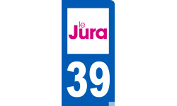 autocollant immatriculation 39 du Jura