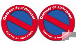 Stickers / autocollants stationnement interdit 3