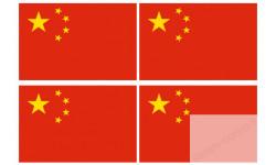 Stickers / autocollants drapeau Chine 2