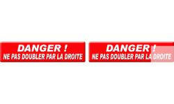 stickers / autocollants ne pas doubler par la droite
