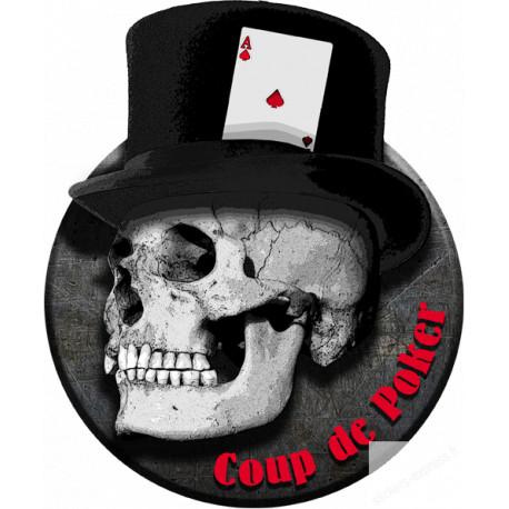 Stickers  / Autocollant Coup de Poker
