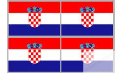 Stickers / autocollants drapeau Croatie 2