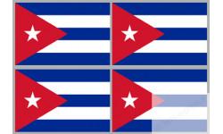 Stickers / autocollants drapeau Cuba 2