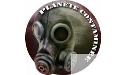 stickers autocollant planète contaminée