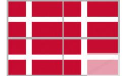 Stickers / autocollants drapeau Danemark 2