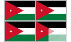 Stickers / autocollants drapeau Jordanie 2