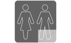 stickers / autocollant wc, toilette