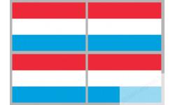 Stickers / autocollants drapeau Luxembourg 2