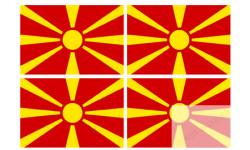 Stickers / autocollants drapeau Macedoine 2