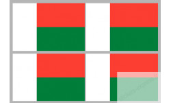 Stickers / autocollants drapeau Madagascar 2