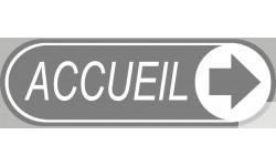 Stickers / Autocollant accueil gris