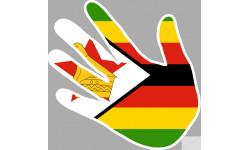 Stickers / autocollants drapeau Zimbabwe
