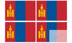 Stickers / autocollants drapeau Mongolie 2