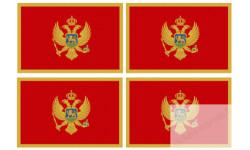 Stickers / autocollants drapeau Monténégro 2