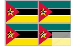 Stickers / autocollants drapeau Mozambique 2